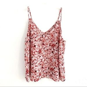 Ann Taylor Factory Floral Sleeveless Top Size L